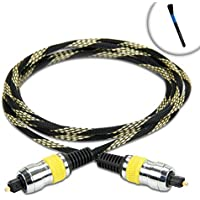 DATASTREAM Digital Audio Optical TOSLink Cable (6) w/ High Fidelity Audio Transfer & Nylon Braided Cable - Excellent for Apple TV