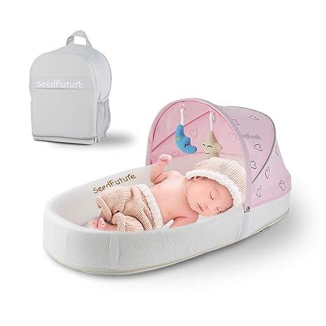 Saco de dormir portátil para bebé recién nacido rosa rosa