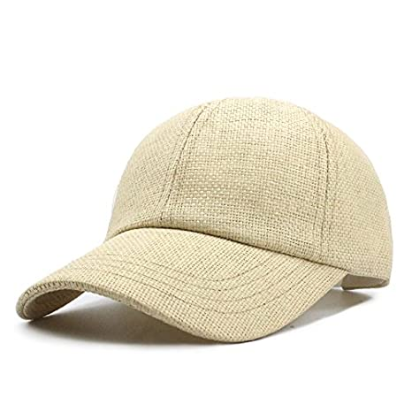 c784207d1fab ALWLj New Spring and Summer Straw Baseball Cap Hat Fashion Travel Hat  Equestrian for Men and