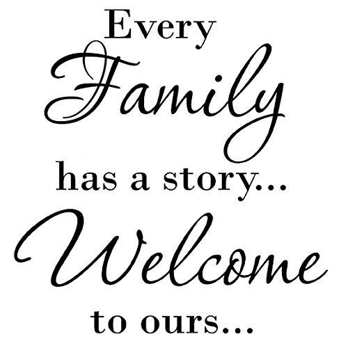 Family Welcome Letters Decals Stickers product image