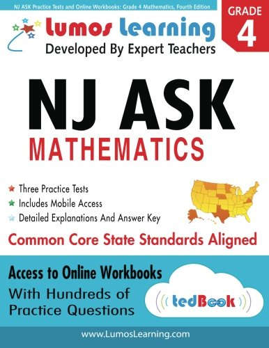 NJ ASK Practice Tests and Online Workbooks: Grade 4 Mathematics, Fourth Edition: Common Core State Standards 2014