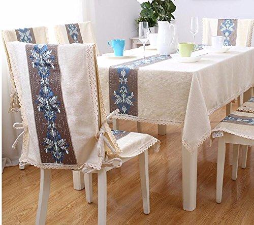 SCLOTHS Nappe en Coton Classique Simple décoration de Table de Salle à Manger 130  190cm