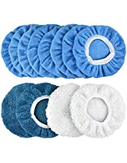 POLIWELL 6 Inch Car Polishing & Buffing Sponge Pads Kit Wool Bonnet Pads for Household Electric Drill and Auto Polisher