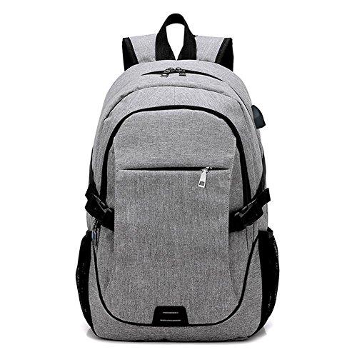 Bolso de carga del USB del color sólido de múltiples funciones de la manera del bolso de hombro ocasional de la manera