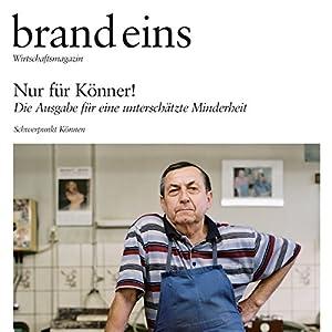 brand eins audio: Koennen Audiomagazin