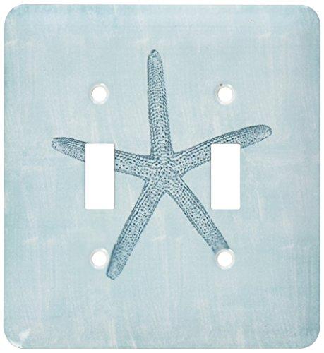 3dRose lsp_178911_2 Aqua Starfish Abstract Beach Theme Light Switch Cover]()