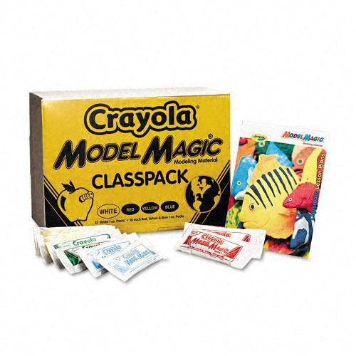 (Crayola Model Magic Assorted Colors 1 oz Modeling Compound Pouches (Case of 75))