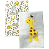 Mud Pie Baby Burp Cloth Set, Safari, One Size
