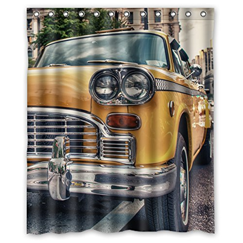MOISTUREPROOF Personalized custom Classic Cars Waterproof Polyester Fabric Bathroom Shower thick curtains 60