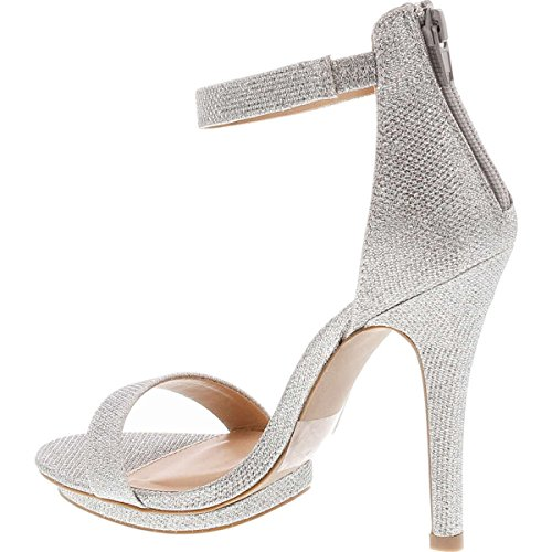 Pictures of Wild Diva Womens Open Toe Ankle Strap Champagne 3