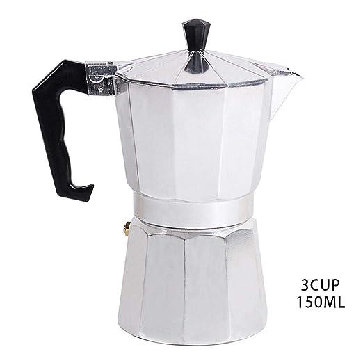 Little Fairy Fang Cafetera Espresso Tipo Italiano Octagonal Cafetera de Aluminio Cafetera Cappuccino Latte Coffee Pot Stove