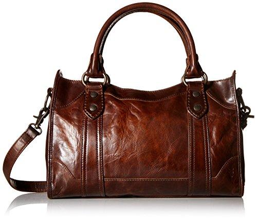 FRYE Melissa Satchel Handbag,Dark Brown,One Size -  34DB147-DBN
