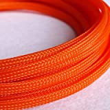 10M 6mm Wire Mesh Guard RC Car Quadcopter Wiring Braided PET Expandable Auto Wire Cable Gland Sleeves High Density orange