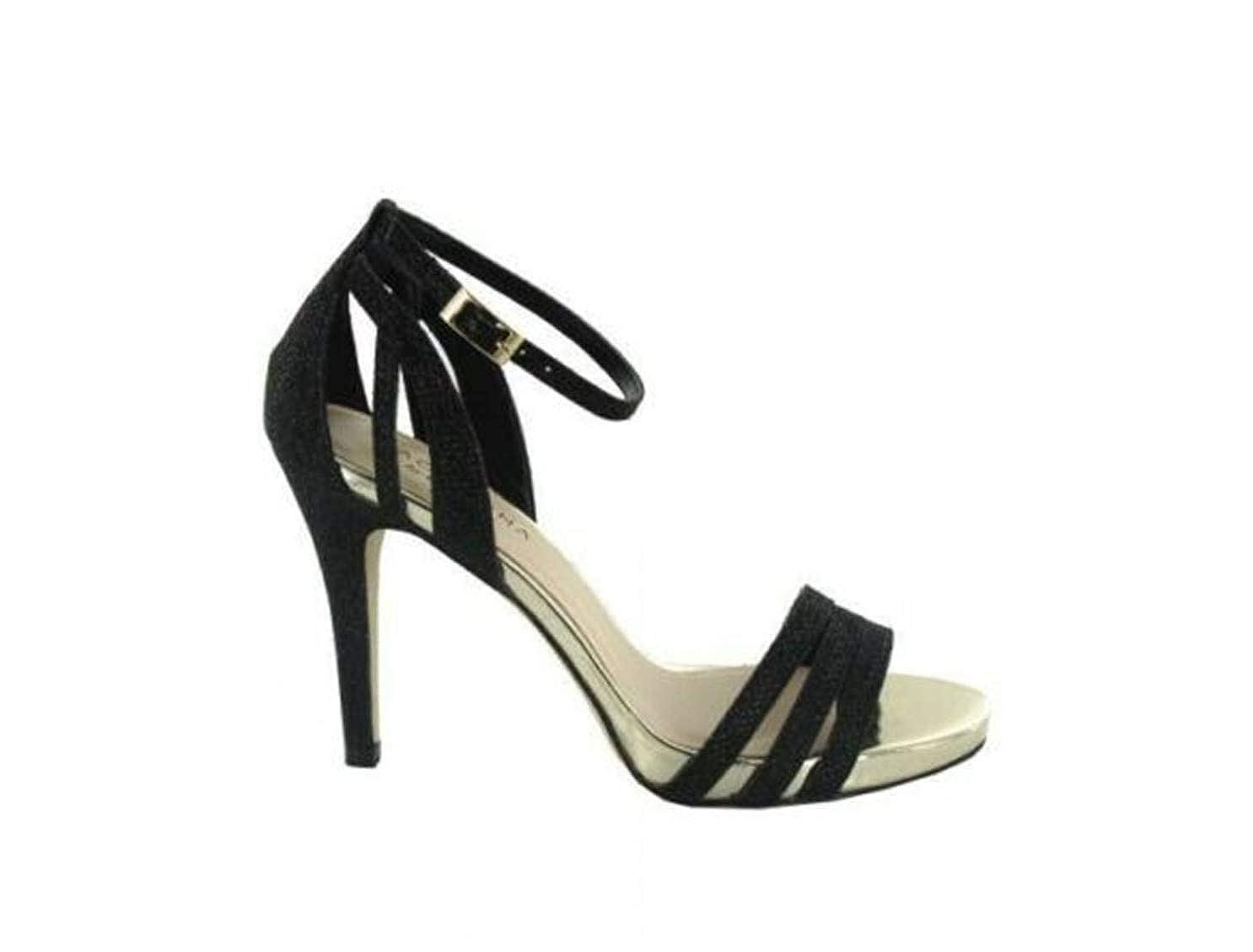 - Menbur Kigali 007540 Women's Sandals high Heel Black Stiletto