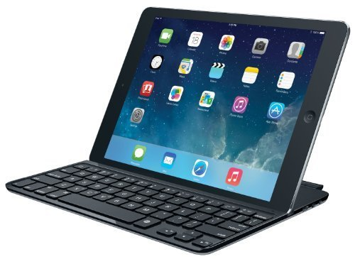 Logitech Ultrathin Keyboard Cover for iPad Air, Space Grey (920-00510) (Renewed)