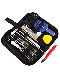 Watch Repair Kit Professional Deluxe Spring Bar Tool Set Watch Opener Link Remove with Carrying Case