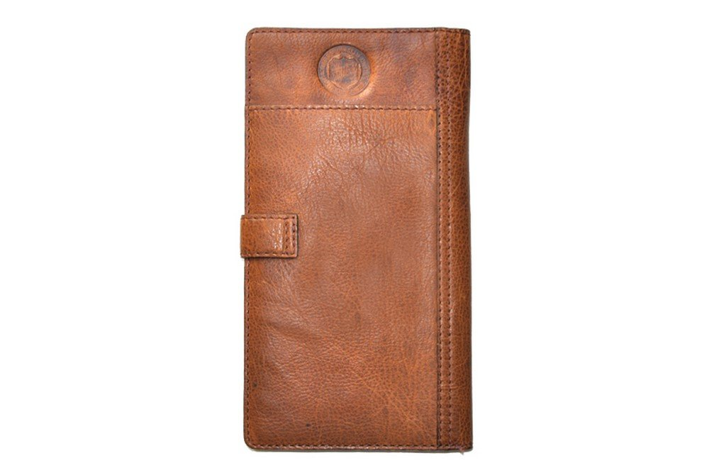 Rawlings Rugged Passport Wallet, Cognac, One Size by Rawlings