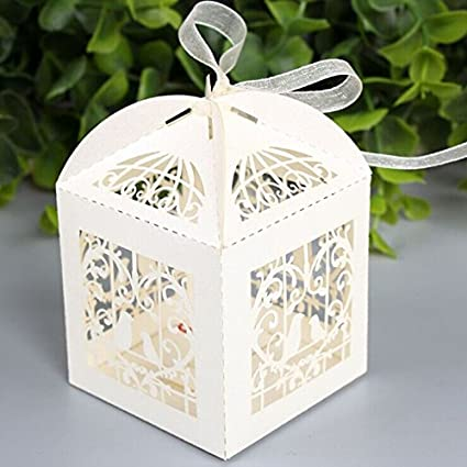zorpia 50pcs laser cut birdcage wedding favor box candy box baby shower box wedding favors and