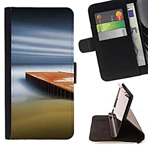 DEVIL CASE - FOR Sony Xperia Z1 L39 - Dream Pier - Style PU Leather Case Wallet Flip Stand Flap Closure Cover