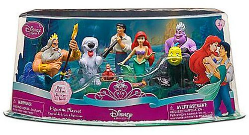 7 Piece Pvc Figure (Disney Little Mermaid Exclusive 7 Piece Mini PVC Figure Collector Set King Triton, Ursula, Prince Eric, Ariel, Flounder, Sebastian Max)