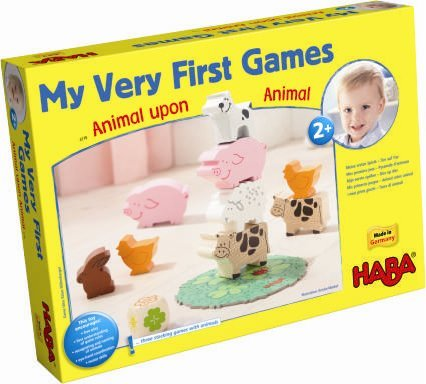 HABA My Very First Games - Animal Upon Animal Wood Stacking Game (Made in -