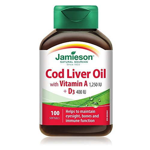 (Jamieson Cod Liver Oil Food Supplement 100 Perle)