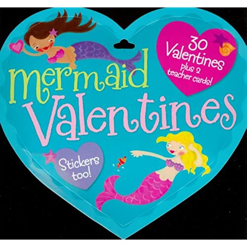 Mermaid Valentines Cards 30 Student Cards and 2 Teacher Cards Sales