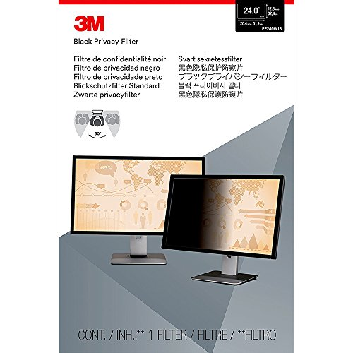 """3M Privacy Filter for 24"""" Widescreen Monitor (16:10) (PF240W1B)"""