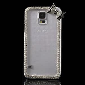 JUJEO Carrying Case for Samsung Galaxy S5 G900 - Non-Retail Packaging - Transparent Cute Bowknot