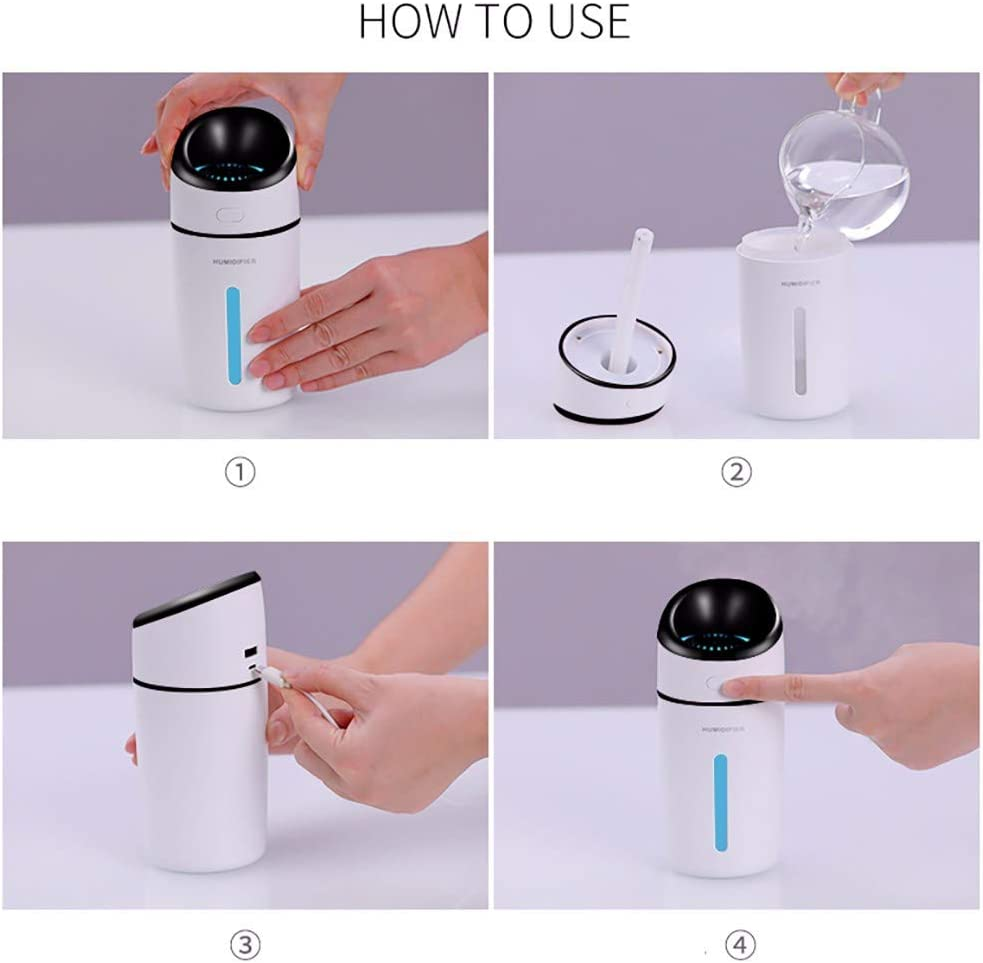 UFACE - Humidificador de Color con USB, Mini humidificador, luz ...
