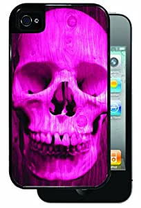 Pink Skull - Black iPhone 4, 4s Dual Protective Durable Case