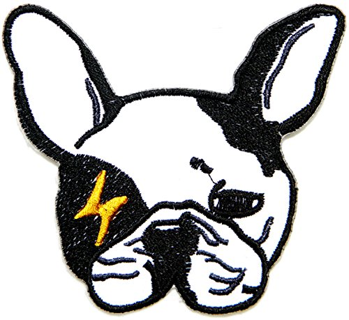 French bulldog Dog Puppy Pet Cartoon Baby Jacket T-shirt Patch Sew Iron on Embroidered Sign Badge Costume Clothing