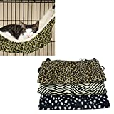 Voberry® Warm Cat Kitten Hanging Hammock Bed Pad Pet Cat Cage Comforter Large for Winter (C, L)