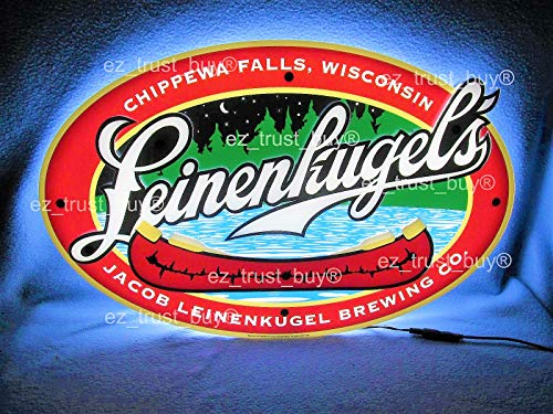 (Desung Revolutionary Leinenkugels Lager Beer 3D LED Neon Light Sign (Multiple Sizes Available) Vivid Printing Tech Design Decorate 3rd Generation LED Sign 17'' LE11M)