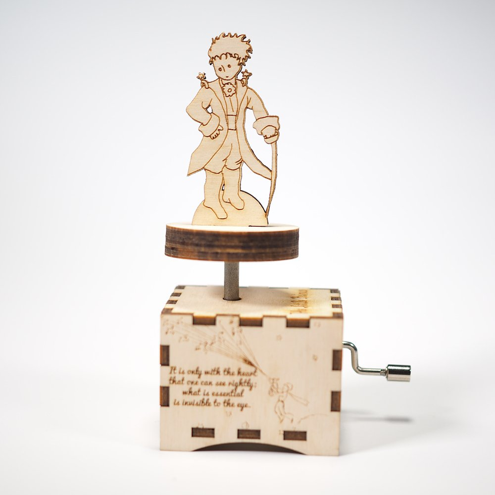The Little Prince Music Box - Et maintenant - Laser cut and laser engraved wood music box. Perfect gift, memorabilia or collectible