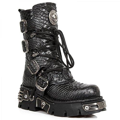 New Rock Handmade M 373 S21 Schwarz Unisex Stiefel
