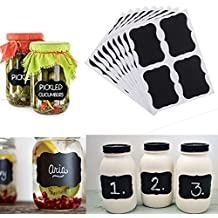 Chalkboard Labels,Fashionclubs Reusable Blackboard Stickers for the Kitchen, Pantry, Mason Jars, Wine Glasses 36PCS