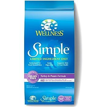 Wellness Simple Natural Grain Free Dry Limited Ingredient Dog Food, Turkey & Potato, 26-Pound Bag