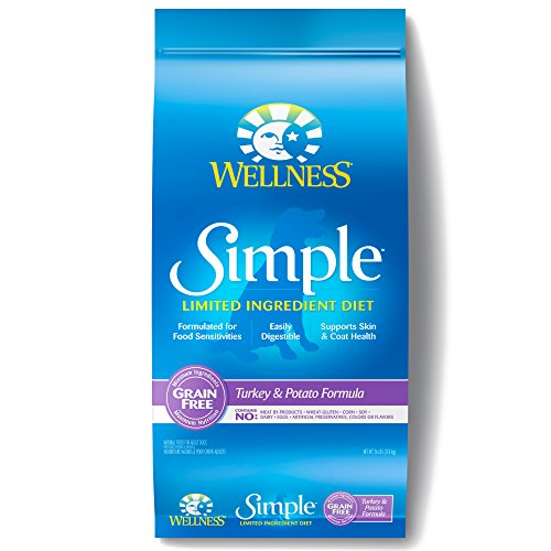 - Wellness Simple Natural Grain Free Dry Limited Ingredient Dog Food, Turkey & Potato, 26-Pound Bag