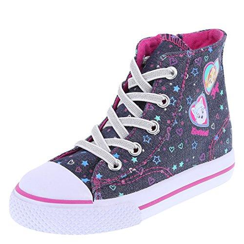 Sneaker Patrol Shoes - Nickelodeon Paw Patrol Girl's Toddler Blue Paw Patrol High-Top Toddler Size 6.5 Regular