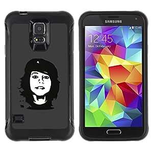 "Hypernova Defender Series TPU protection Cas Case Coque pour Samsung Galaxy S5 V [Che Rebel Chica""]"