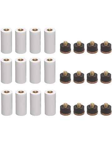 XuBa 10/pcs Professional Billard en Cuir Rigide Billard /à Visser Conseils Billard Accessoire de Couleur Noir 11/mm