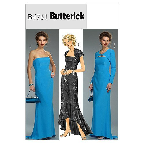 BUTTERICK PATTERNS B4731 Misses'/Misses' Petite Shrug and Dress, Size EE (14-16-18-20)