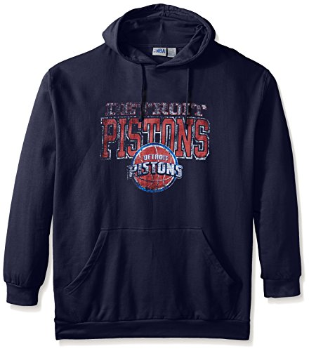 NBA Detroit Pistons Men's Screen Pullover Fleece Hoodie, 3X-Large Tall, (Detroit Pistons Mens Sweatshirts)
