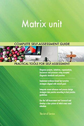 Matrix unit Toolkit: best-practice templates, step-by-step work plans and maturity diagnostics