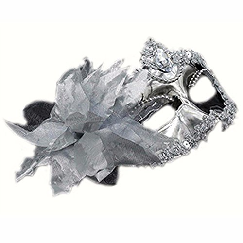 Mardi Gras Party Masquerade Mask,Halloween Male mask Female Children cos Adult Makeup Prom Sexy Half face Silver Prom Masks