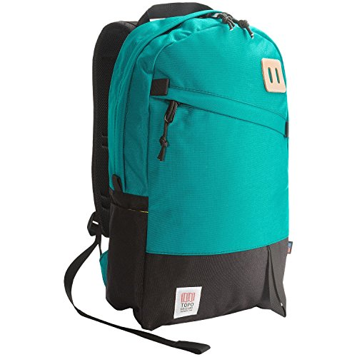 Topo Designs Daypack Backpack in Turquois and Black by Topo Designs