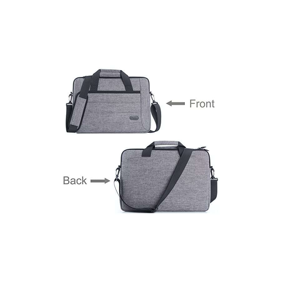 ProCase Laptop Shoulder Bag for Laptop Ultrabook MacBook Pro Chromebook, Notebook Messenger Bag Case Tote with Handle and Strap