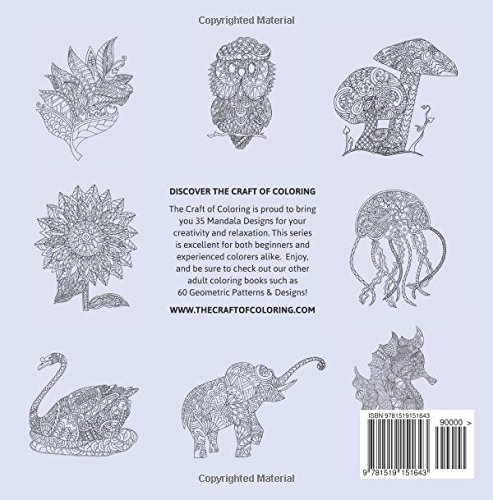 Amazon The Craft Of Coloring 32 Animals And Nature Designs An Adult Book Relaxing Stress Relieving Books
