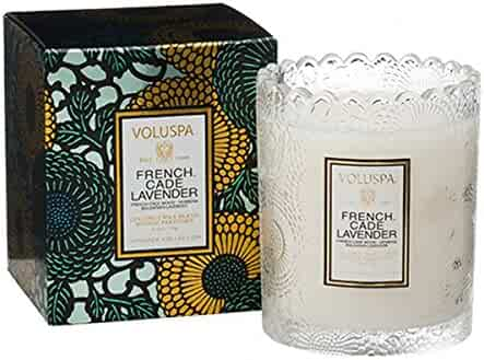 Voluspa French Cade & Lavender Boxed Scalloped Limited Candle 6.2 oz